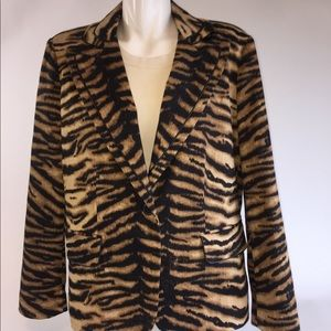 New Chico's Tiger Print Jacket/Blazer Size 2